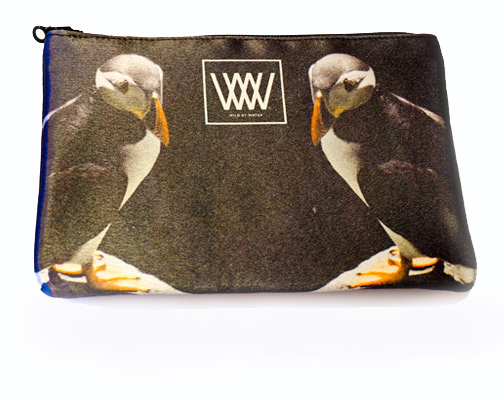 "Wild By Water Bags - Wild By Water Fashion Clutch ""Skellig Puffin Pair"""
