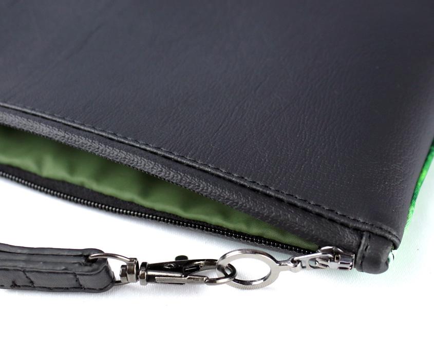 Fashion clutch bag– Wild Estuary - detail