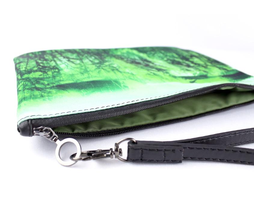 Fashion clutch bag– Wild Estuary - inside
