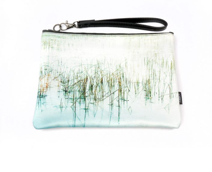 Fashion clutch bag– Ice Reeds by Wild by Water