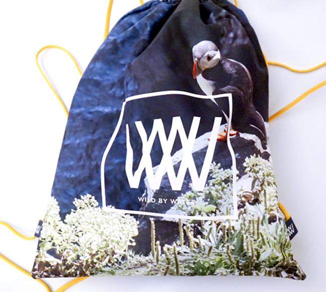 "Wild By Water Bags - Waterproof bag- Day Pack ""Skellig Puffin"""
