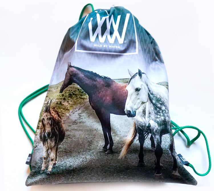"Wild By Water Bags - Wild By Water (Water-resistant) Day Pack ""Maharee Horses"""