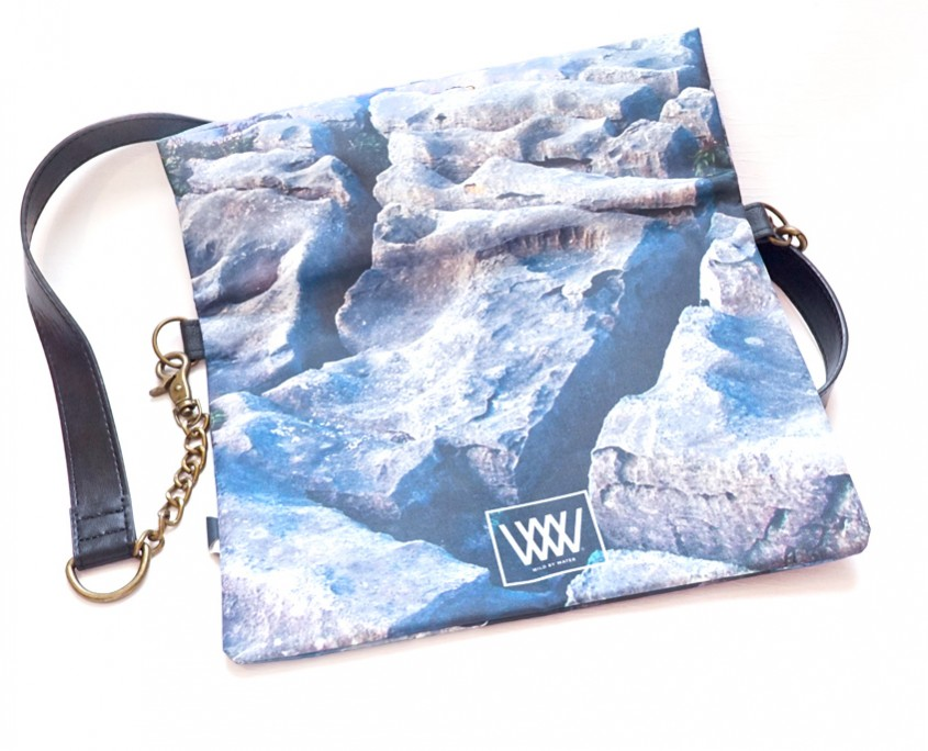 "Wild By Water Bags - Wild By Water Over the Shoulder Folded Clutch ""Flaggy Shore"""