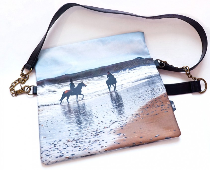 Wild by Water Folded Clutch Beach Riders