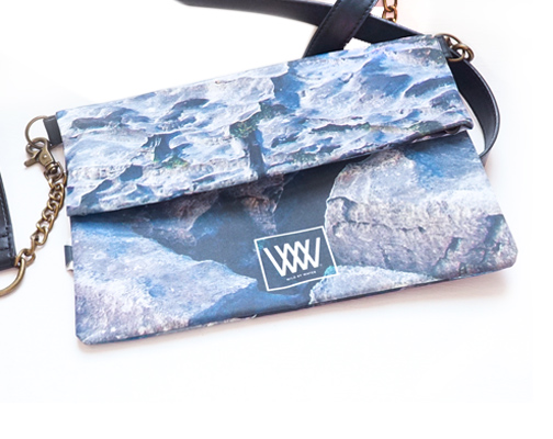 "Wild by Water Bags - Wild by Water Folded Clutch - ""Flaggy Shore"""