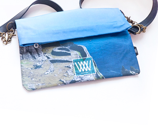 "Wild By Water Over the Shoulder Folded Clutch ""Skellig View"""