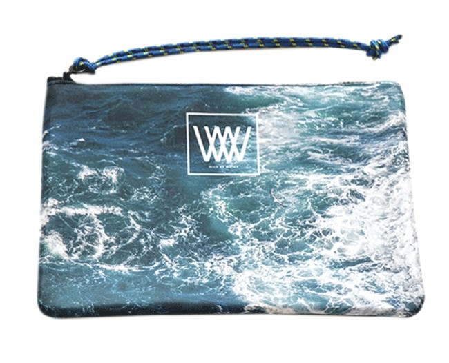 Waterproof bag /clutch – Seabird Swirl