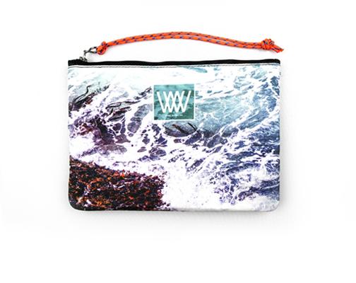 Waterproof bag /clutch – Seaweed Foam