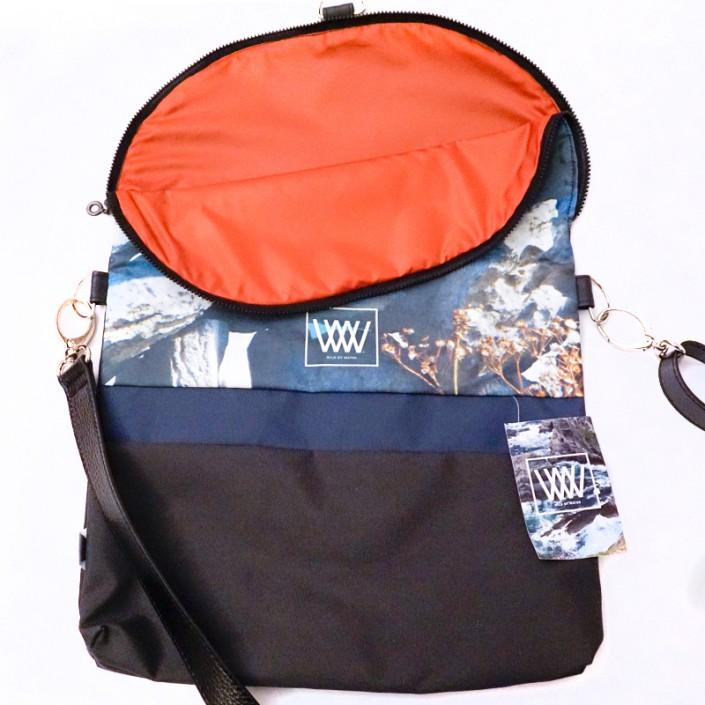 Waterproof crossbody / backpack - Drystone Wall