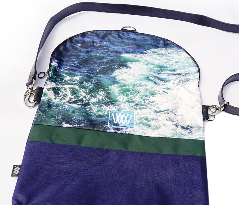 Waterproof cross-body / backpack - Seabird Swirl