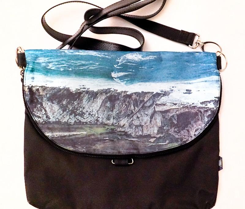 Waterproof cross-body / backpack -Wild Sheep folded