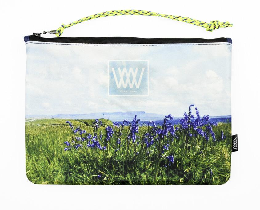 Waterproof bag /clutch – Bluebells