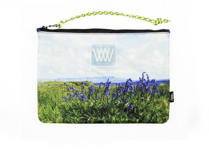 "Waterproof bag /clutch – ""Island bluebells"""