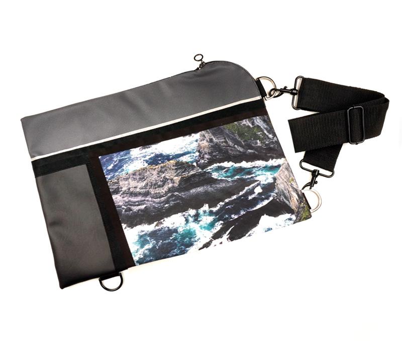 """Wild by Water Waterproof Folio / Laptop """"Sea Cliffs"""""""