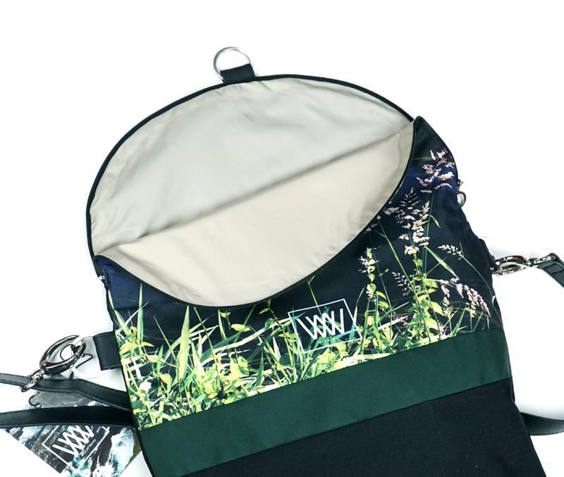 "Wild by Water Backpack and Cross-body ""Kilbeggan"" - inside"