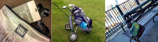 Waterproof clutch bags for golfers