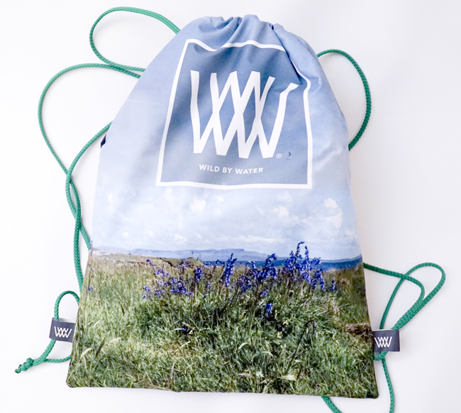 """Wild By Water Bags - Waterproof Day Pack """"Inishmurray Blue Bells"""""""