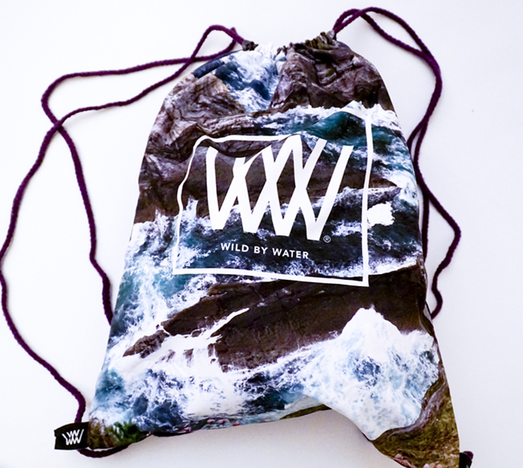 """Wild By Water Bags - Waterproof bag-clutch-wallet """"Sea Cliffs and Seascape"""""""