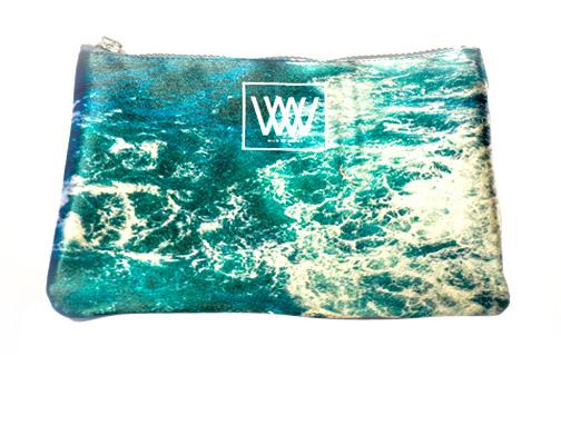 "Wild By Water Fashion Clutch ""Seabird Swirl"""