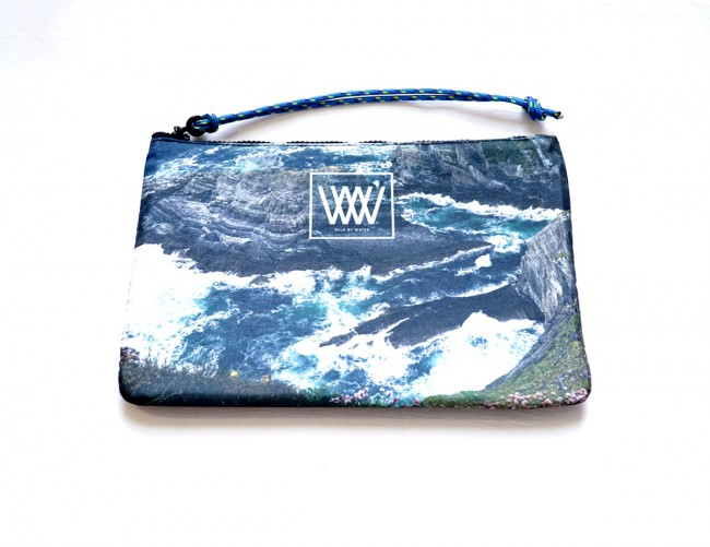 """Wild By Water Bags - Wild By Water Sporty Water-resistant Clutch """"Sea Cliffs and Seascape"""""""