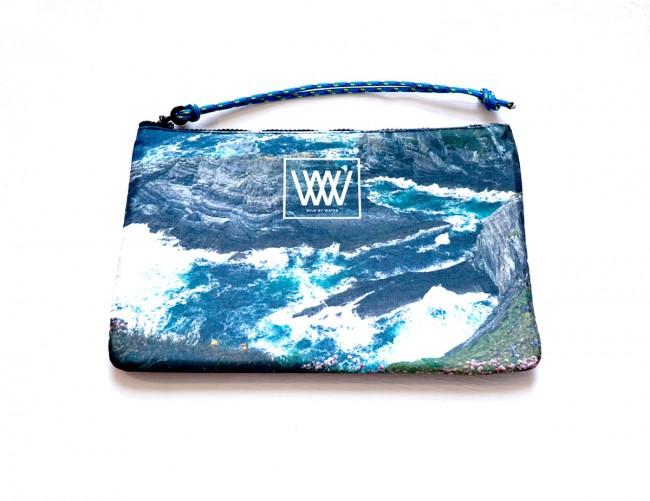 "Wild By Water Bags - Wild By Water Sporty Clutch ""Sea Cliffs & Seascape"""