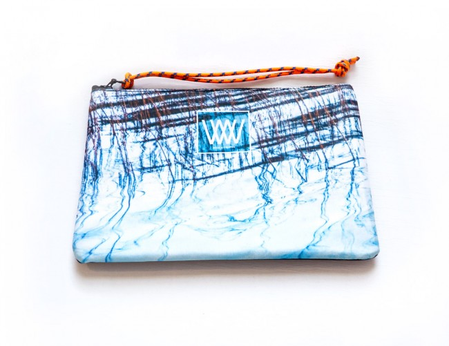 """Wild By Water Bags - Wild By Water Sporty Water-resistant Clutch """"Lake Reflections"""""""