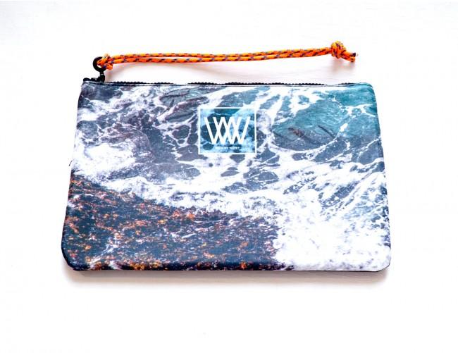 "Wild By Water Bags - Wild By Water Sporty Water-resistant Clutch ""Seaweed Foam"""