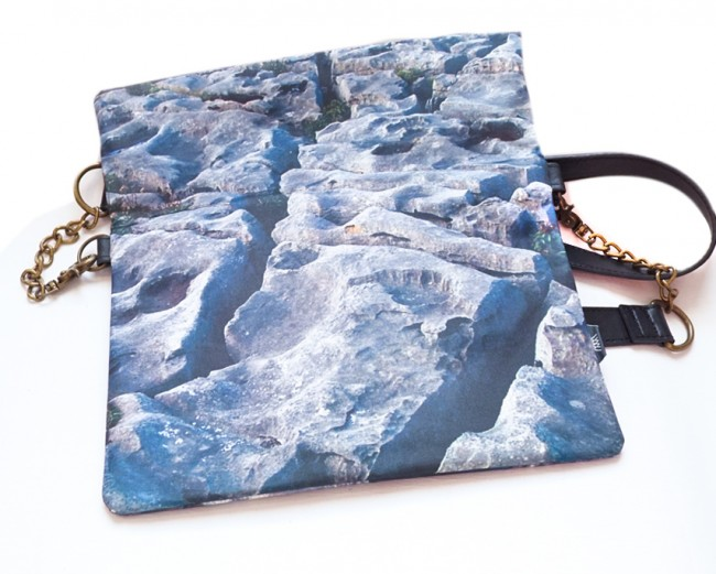 """Wild By Water Bags - Wild By Water Over the Shoulder Folded Clutch """"Flaggy Shore"""""""