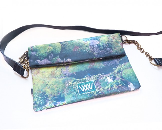 """Wild By Water Bags - Wild By Water Over the Shoulder Folded Clutch """"Gull"""""""