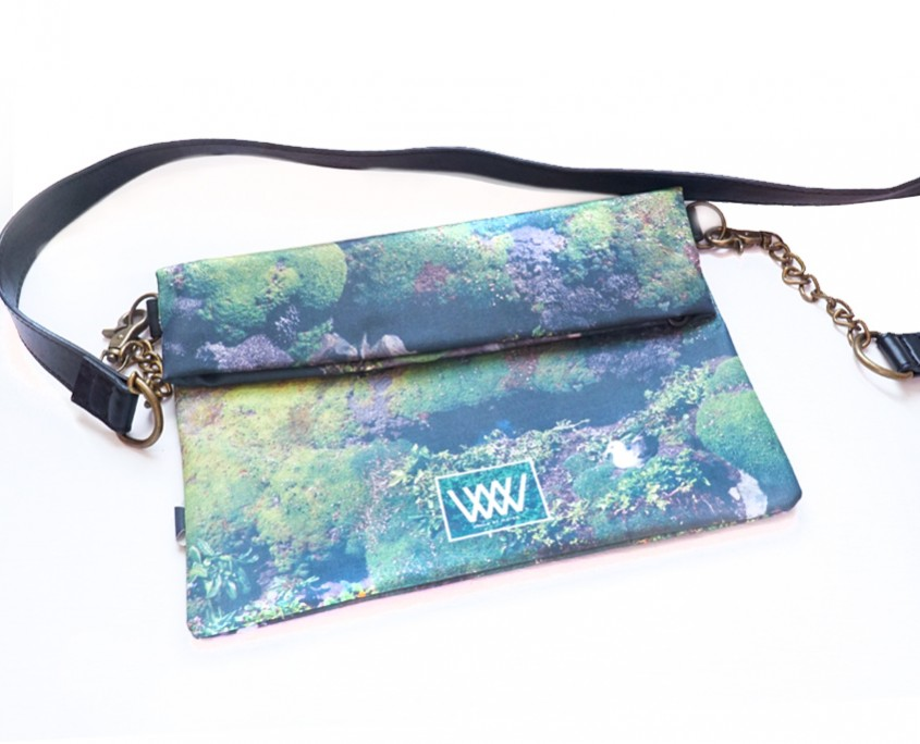 "Wild By Water Bags - Wild By Water Over the Shoulder Folded Clutch ""Gull"""