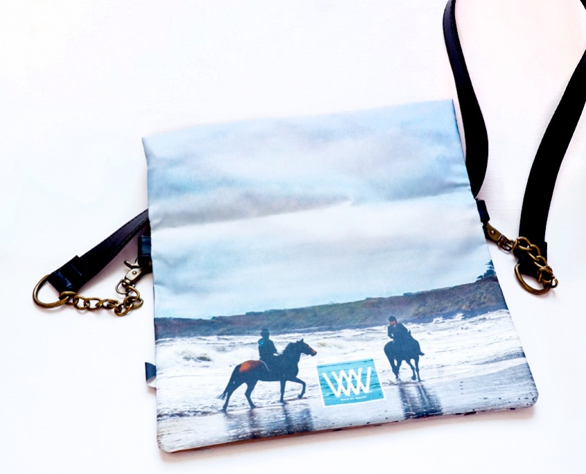 Wild by Water Folded Clutch Beach Riders