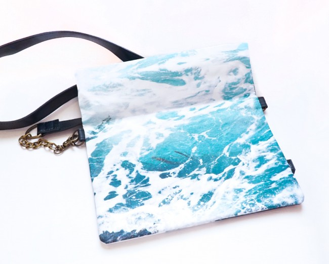 Wild by Water Folded Clutch Seaweed Foam