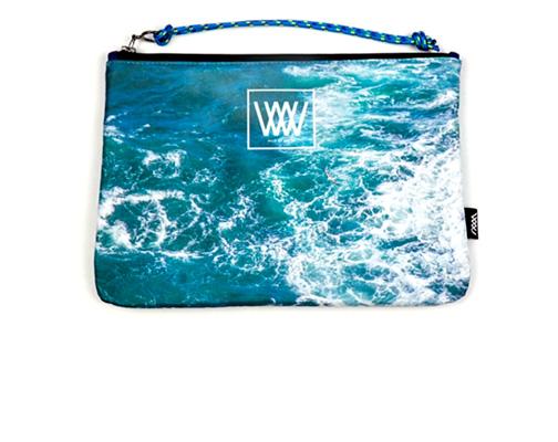 Wild by Water Sporty Clutch Seabird Swirl