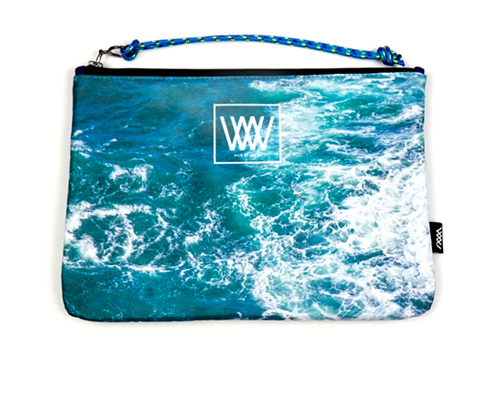 Wild by Water Sporty Clutch Seabird Swirl