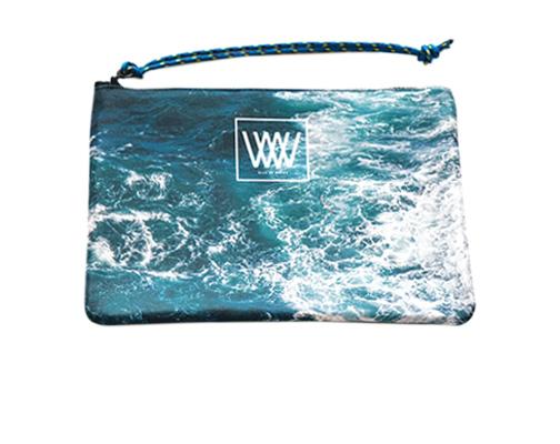 Waterproof bag /clutch – Seabird Swirl