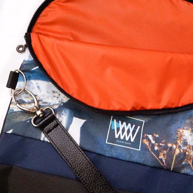 Waterproof crossbody / backpack - Drystone Wall inside