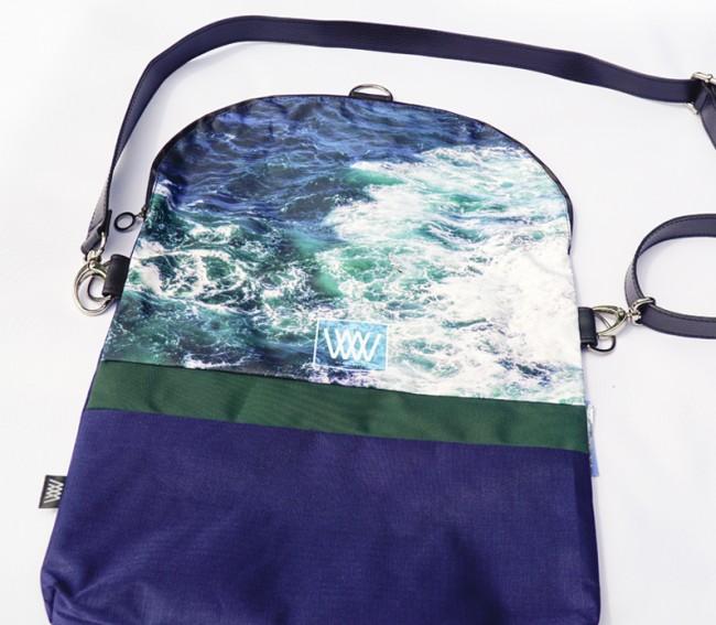 Waterproof cross-body / backpack - Seabird Swirl