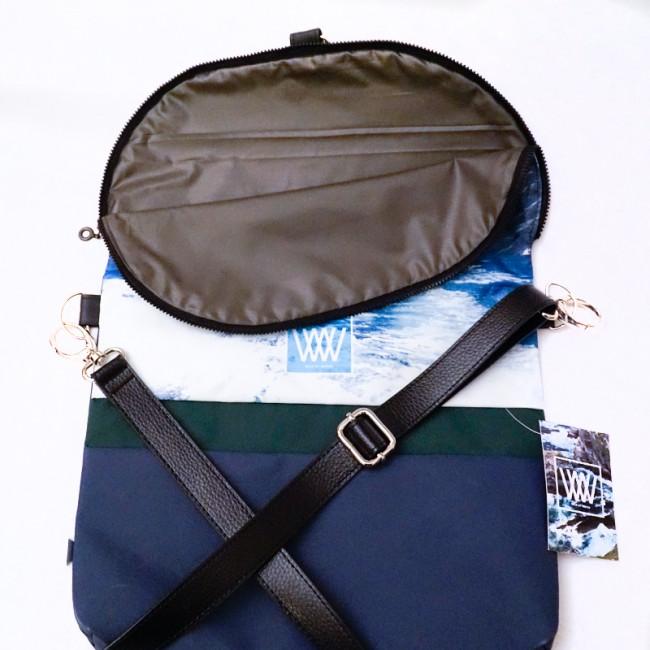 Waterproof crossbody / backpack -Skellig Jedi Rocks