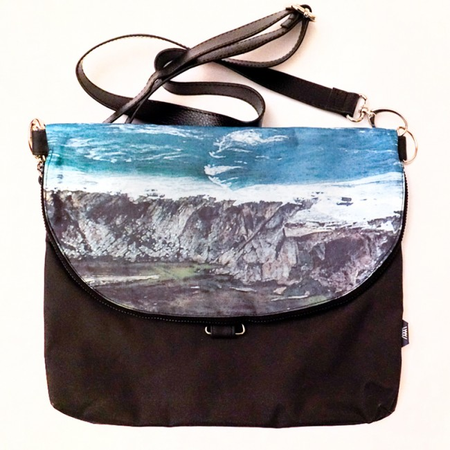 Waterproof cross-body / backpack -Wild Sheep folded