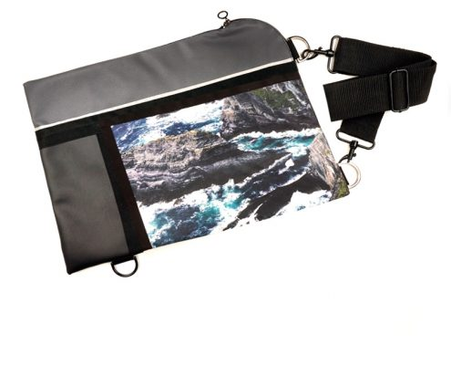 "Wild by Water Waterproof Folio / Laptop ""Sea Cliffs"""